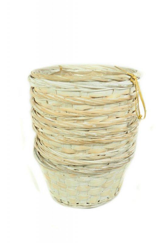 Bambus Korb Rund 20cm Kalk 1455 14
