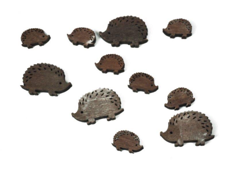 holz-igel sortiert 28 st. braun · 1829-338-1
