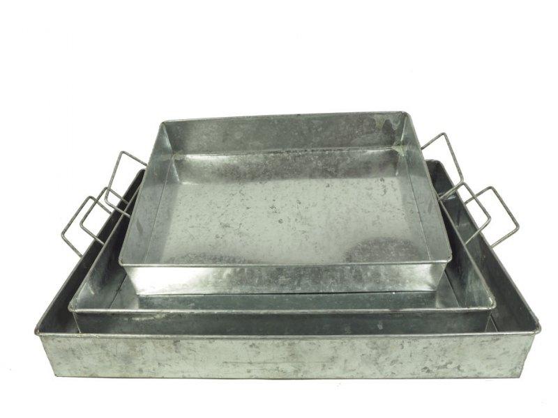 Zink-Tablett Set 3 41/37/32cm · 1831-31