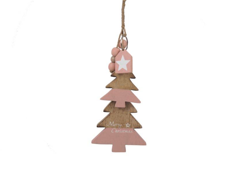 Holz-Tannenbaum Gehänge Christmas · 2030-53