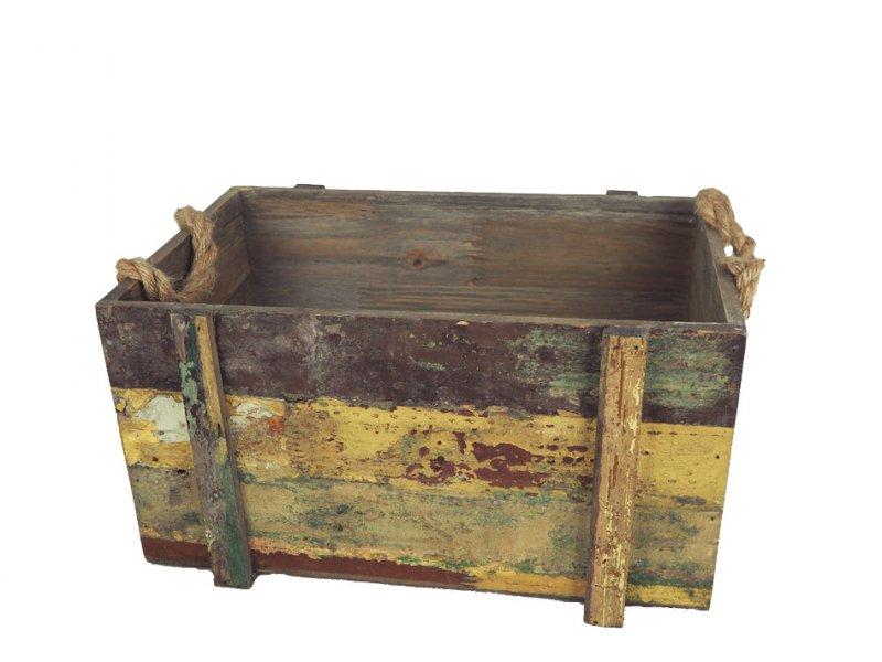 Holz kiste barrique bunt vintage 2144 7 1 - Retro dekoartikel ...