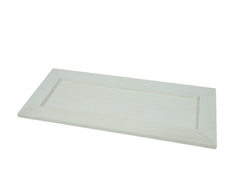 holz tablett 35x14cm wei 2163 14. Black Bedroom Furniture Sets. Home Design Ideas