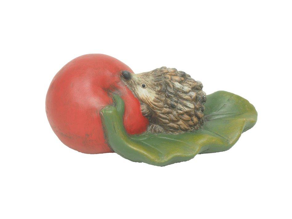 keramik-igel an apfel 16,5x6cm rot/grün/ · 2186-89
